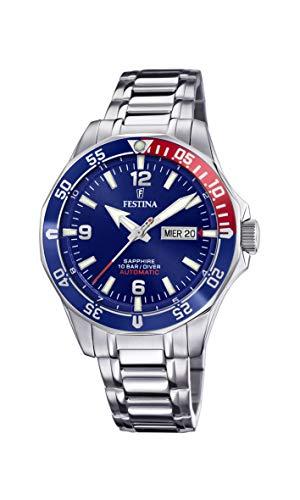Festina Automatic Watch, Day/Date, Sapphire, Pepsi - £112.56 @ Amazon