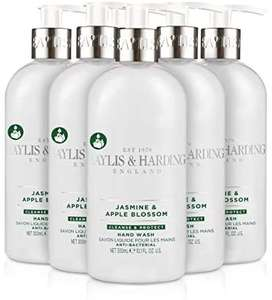 Baylis & Harding Jasmine and Apple Blossom Anti Bacterial Hand Wash, 300 ml, Pack of 6 - £6.30 Prime (+ £4.49 Non Prime) @ Amazon
