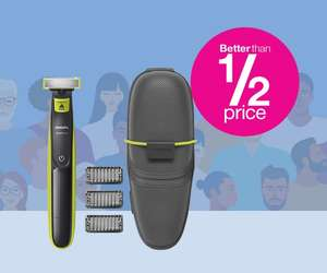 Daily Deal - Better than 1/2 Price Philips Oneblade QP2520/25 with 3 Stubble Combs (Free click and collect) Member Deal @ Superdrug