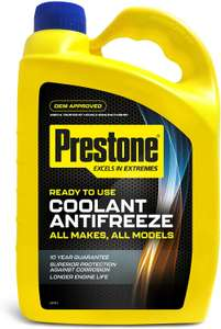 Prestone Ready to Use Antifreeze / Coolant (All Makes All Models ) - 4L for £7 (Clubcard price) @ Tesco