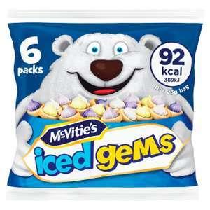 Mcvitie's Iced Gems 6X23g - 50p @ Morrisons
