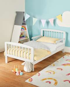 Mamia Grey Toddler Bed & Mattress £79.99 delivered, using code @ ALDI
