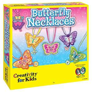Creativity For Kids Butterfly Necklaces - £3.61 (+£4.49 Non Prime) delivered @ Amazon