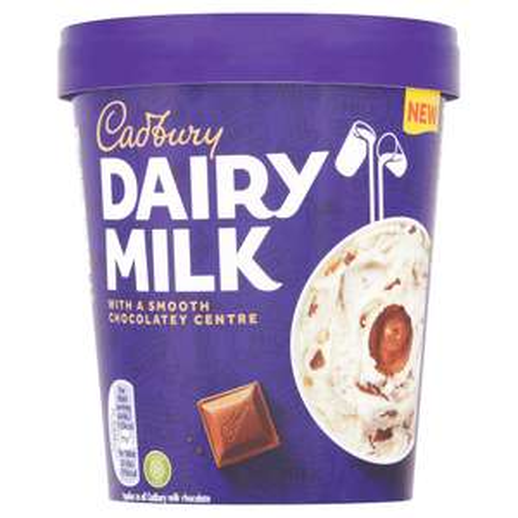 Cadbury Dairy Milk Ice Cream Tub 480Ml £1 with code and Clubcard at Tesco