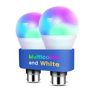 Meross 810 Lumens [2 Pack] Dimmable, Multicolor Smart Bulb for £12.87 delivered (+£4.49 non prime)Sold by Meross Home EU / Amazon