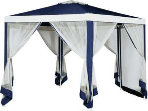 4m Hexagonal Garden Gazebo with Side Panels - Blue £115 Click & Collect / + £3.95 delivery @ Argos