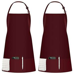 2 Pack Adjustable Innogear Bib Apron with 3 Pockets, Red, Thick Polyester - £5.95 (+£4.49 non Prime) Sold by InnoDirect/Fulfilled by Amazon