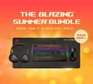 Asus STRIX Blazing £420.69 Summer Bundle, Keyboard, Headset, Mouse and Mouse Mat Bundle £420.69 at AWD-IT