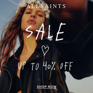 Up to 40% off New Season Sale + up to 70% off the outlet Free Delivery for Prime Members via Amazon Pay + Free Returns @ AllSaints