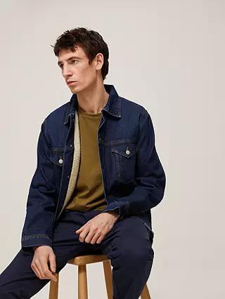 Kin Borg Lined Denim Jacket, Mid Wash - £17.70 (+ £2 Click & Collect) @ John Lewis & Partners
