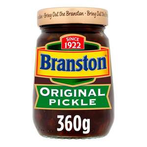Selected Branston Pickle and Piccalilli 360g £1 each (Min Basket / Delivery Charge Applies) at Morrisons