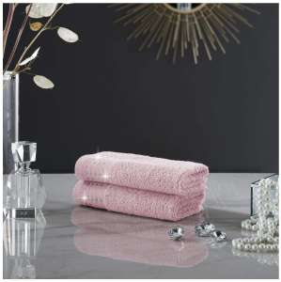 GAVENO CAVAILIA Luxury 2PK Abington Towel Set, 100% Cotton Soft Blush Pink, Face towels £1.31 Amazon Prime (+£4.49 Non Prime)