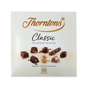 Thorntons classic Assorted Gift Box chocolate 262 grams £4.49 at ALDI