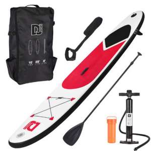 10ft Inflatable Stand Up Paddle Board With Free Bag, Pump & Adjustable Oar (Red, Blue or Black) - £150 delivered @ WeeklyDeals4Less