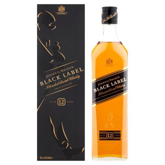 Johnnie Walker Black Label Scotch Whisky 70cl - £20 At ASDA
