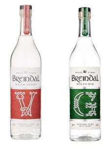 2 bottles of Breindal vodka or Gin for £20 (Delivery from £5.99 / Free over £40) at The Drop Store