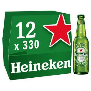 Heineken Premium Lager Beer Bottles 12x330ml £8 at Sainsbury's