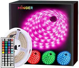 5m RGB Color Changing LED Lights Strip for £10.59 with code (+£4.49 non prime) Sold by Govee UK and Fulfilled by Amazon