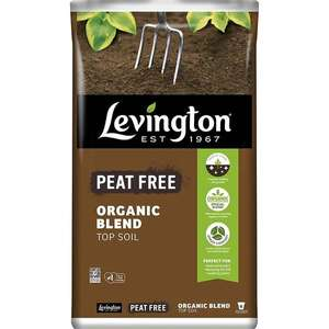 Buy More Save More on Levington Peat Free Organic Blend Top Soil 20L bags - 4 bags for £10 or 9 bags for £20 click & collect @ Homebase