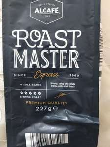 Alcafé Roast Master Espresso Arabica - Robusta Blended Premium Coffee Beans 227G - Now Reduced to Just 79p Instore @ Aldi (National Deal)