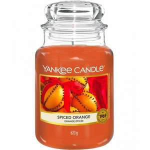 Yankee Candle Spiced Orange Large Jar only £10.99 + FREE delivery at Justmylook
