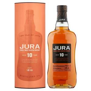 Jura 10 Year-Old Single Malt (Spicy) Whisky 70cl £25 at Tesco