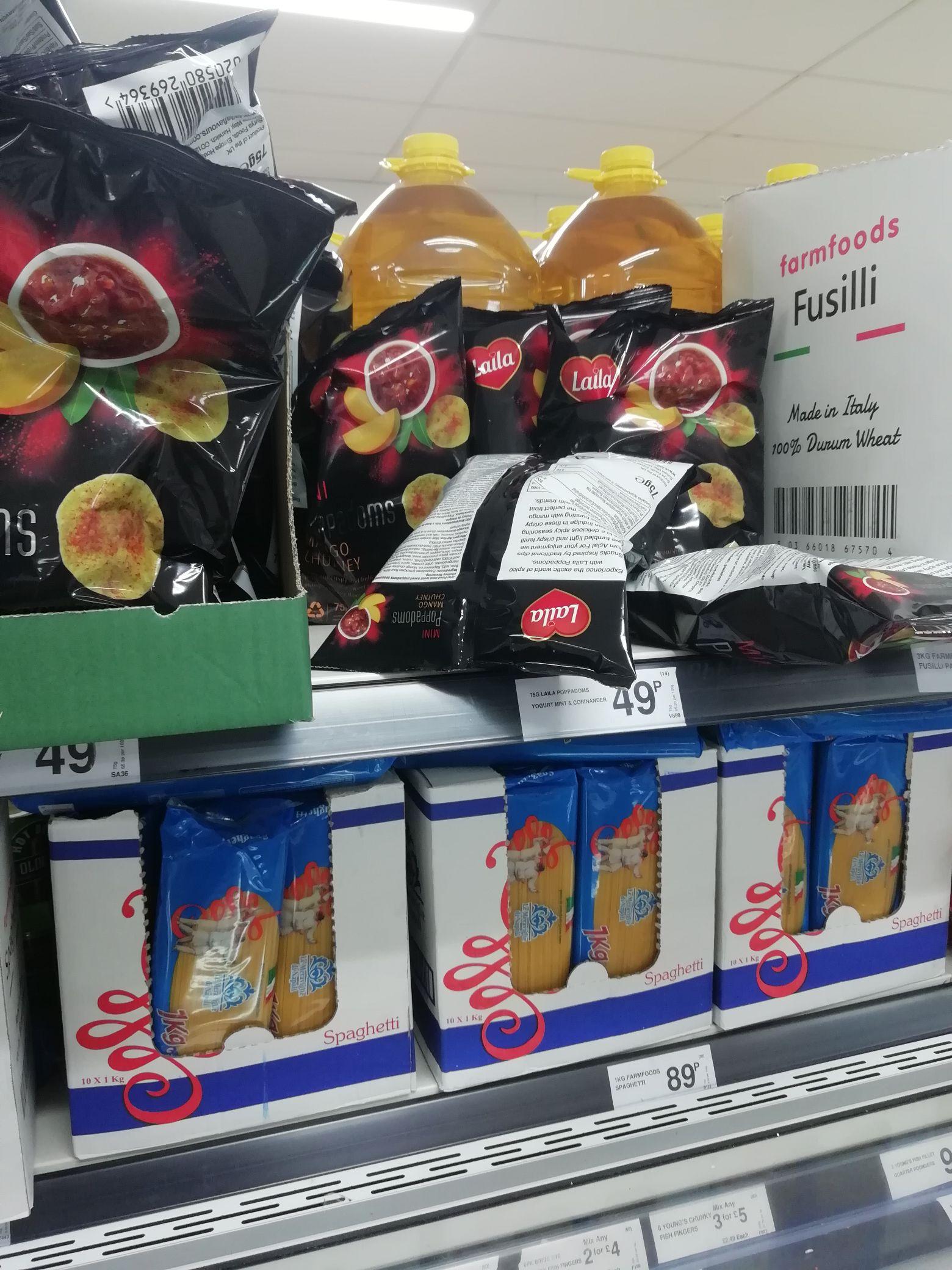 Laila Mango Chutney Poppadoms now 49p @ Farmfoods Staines