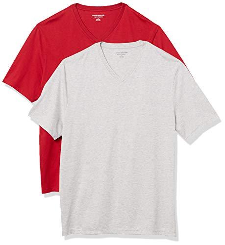 Amazon Essentials 2-Pack Regular-fit V-Neck T-Shirt (Small) £3.66 (+£4.49 Non Prime) @ Amazon