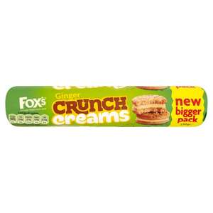 Fox'S Crunch Creams Ginger Biscuits 230g 50p at Morrisons (Min Basket / Delivery Charge Applies)