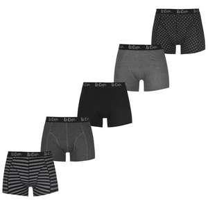 Lee Cooper 5 Pack Printed Boxer Shorts Mens £10 (£4.99 delivery) @ Sports Direct
