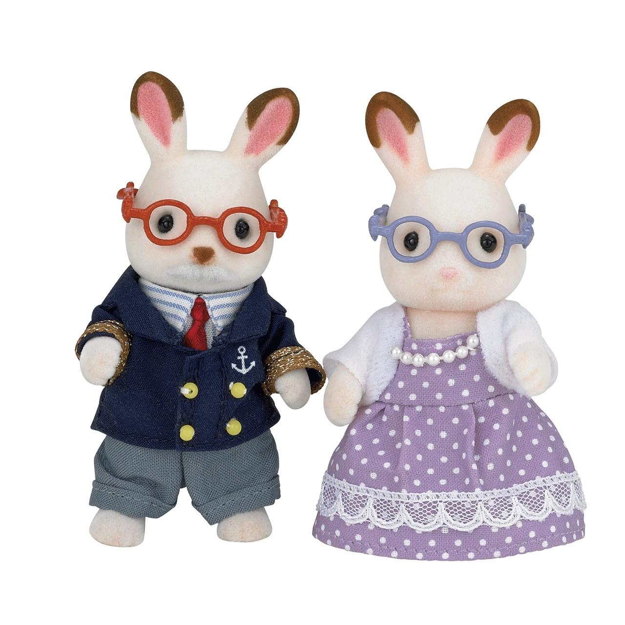 Sylvanian Families Chocolate Rabbit Grandparents Set £13.74 at Jac in a Box