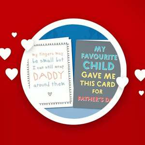 Free A5 Father's Day card from thortful + 86p postage on Friday 11th @ Vodafone VeryMe Rewards