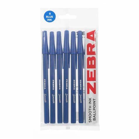 Zebra ballpoint pens blu 8 pack - £1 @ Poundland Croydon