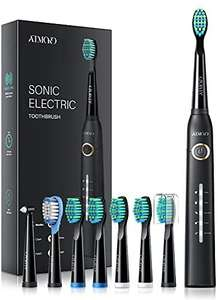 Sonic Toothbrush, ATMOKO Electric Toothbrush 40000VPM 8 Brush Heads 5 Modes £11.39 with vouchers Sold by MLBecommerce & Fulfilled by Amazon