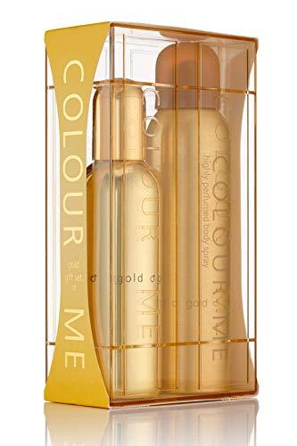 Colour Me Gold Homme - Fragrance for Men - Gift Set 90ml EDP/150ml Body Spray, by Milton-Lloyd £8.89 (Prime) + £4.49 (non Prime) at Amazon