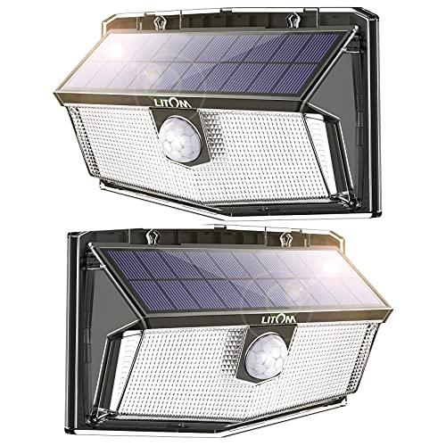 300 LED Solar Lights Outdoor LITOM Solar Motion Sensor Security Lights 270° Wide Angle 2 Pack £15.99 using code @ Amazon / MLBecommerce