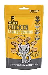 Rosewood Daily Eats Crunchy Chicken Cushions For Cats, 60 g, Pack of 12 £1.25 Amazon Prime (+£4.49 Non Prime)