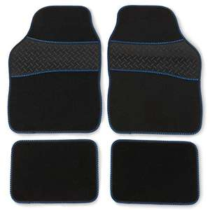 Safe Travel 27751 Universal Car Mats, Heavy Duty Rubber Heel Pad, Blue Binding £12.29 (Prime) + £4.49 (non Prime) at Amazon