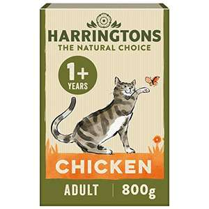 Harringtons Complete Adult Chicken Dry Cat food 800g, Pack of 5 £5.41 Amazon Prime (+£4.49 Non Prime) £2.92 with s&s and voucher