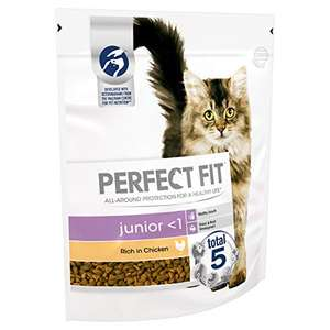 Perfect Fit Junior <1 - Complete Dry Food for junior cats under 1 Year Old, 4 Bags (4 x 750 g) £5.96 Amazon Prime (+£4.49 Non Prime)