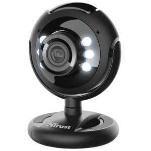 Trust SpotLight Pro Webcam with LED Lights - Black FREE Click & Collect £10.93 + £4.95 delivery@ Robert Dyas