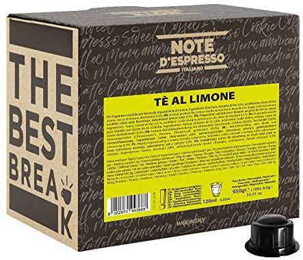 Note D'Espresso Coffee Pods for Caffitaly Machines, Lemon Tea, 9.5 g (100-Pack) - £3.26 Prime / +£4.49 non Prime @ Amazon