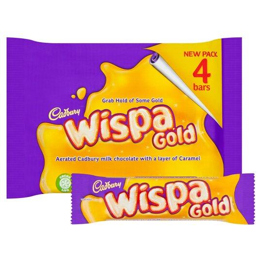Cadbury Multipacks x4 Chocolate Bars 98p : Wispa Gold, Crunchie, Twirls, Double deckers, Flake, Picnic, Boost @ Tesco