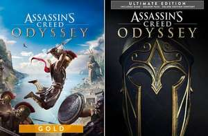 [PC] Assassin's Creed Odyssey Gold Edition - £11.00 / Ultimate Edition - £10.17 (Shopping optimization) @ Ubisoft Store