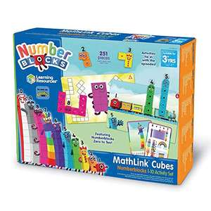Learning Resources LSP0949-UK MathLink Cubes Numberblocks 1-10 Activity Set £13.99 Prime (+£4.49 Non-Prime) @ Amazon