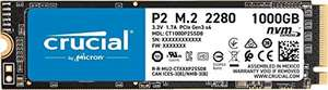 Crucial P2 CT1000P2SSD8 1TB Internal SSD, Up to 2400 MB/s (3D NAND, NVMe, PCIe, M.2) £76.17 @ Amazon