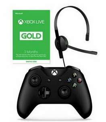 Xbox One Wireless Controller, Wired Headset & 3 Months Live Starter Bundle £49.99 (UK Mainland) @ Argos / eBay