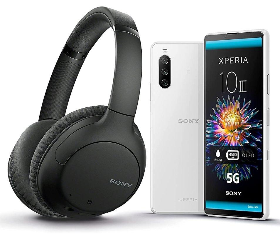 Sony Xperia 10 III - UK Model - Dual SIM / Black / 128GB + 6GB RAM Smartphone + Free Headphones - £393 With Code @ Clove Technology
