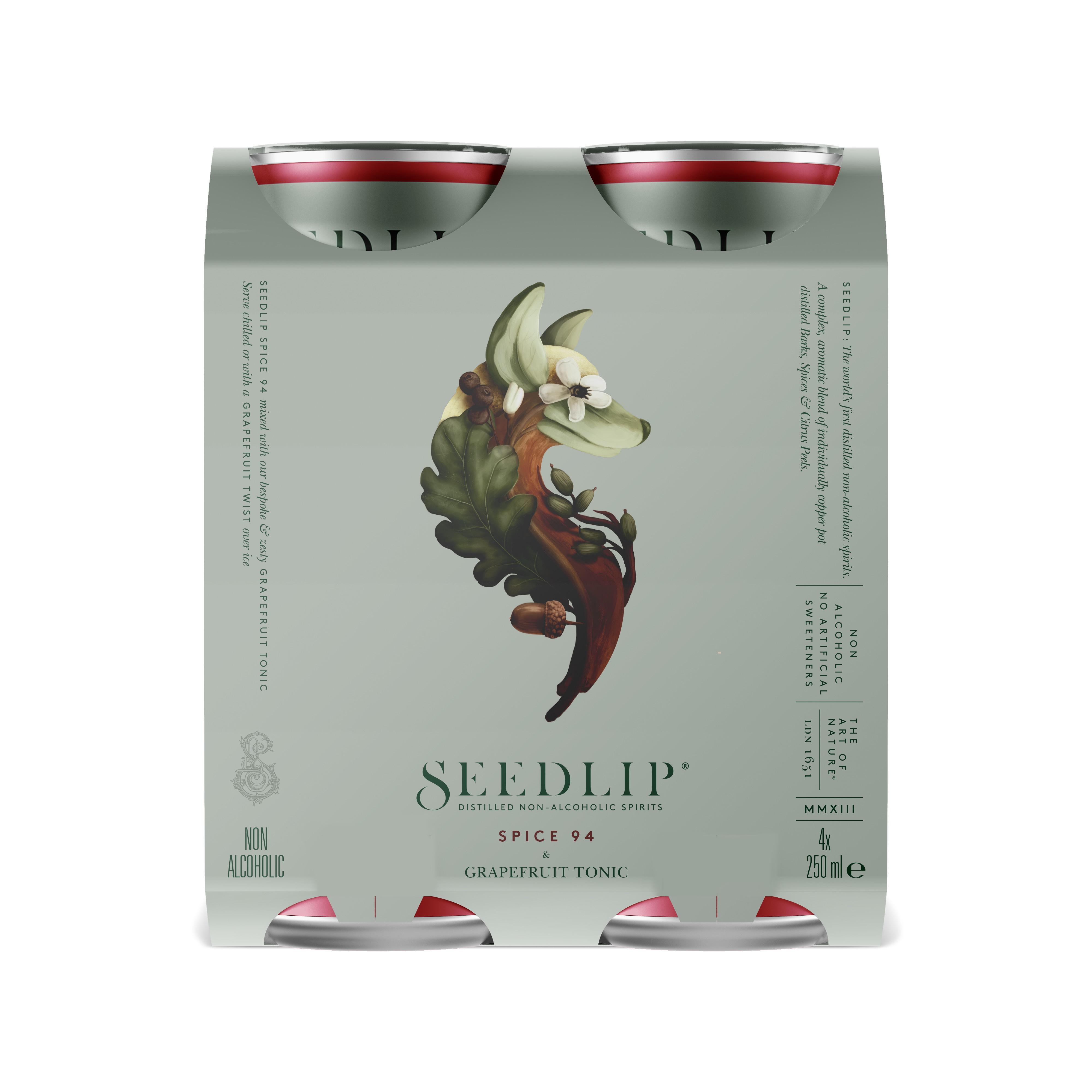 Seedlip Spice 94 & Grapefruit Tonic 4 pack £1 (£2.50 delivery / Short Expiry) @ Seedlip