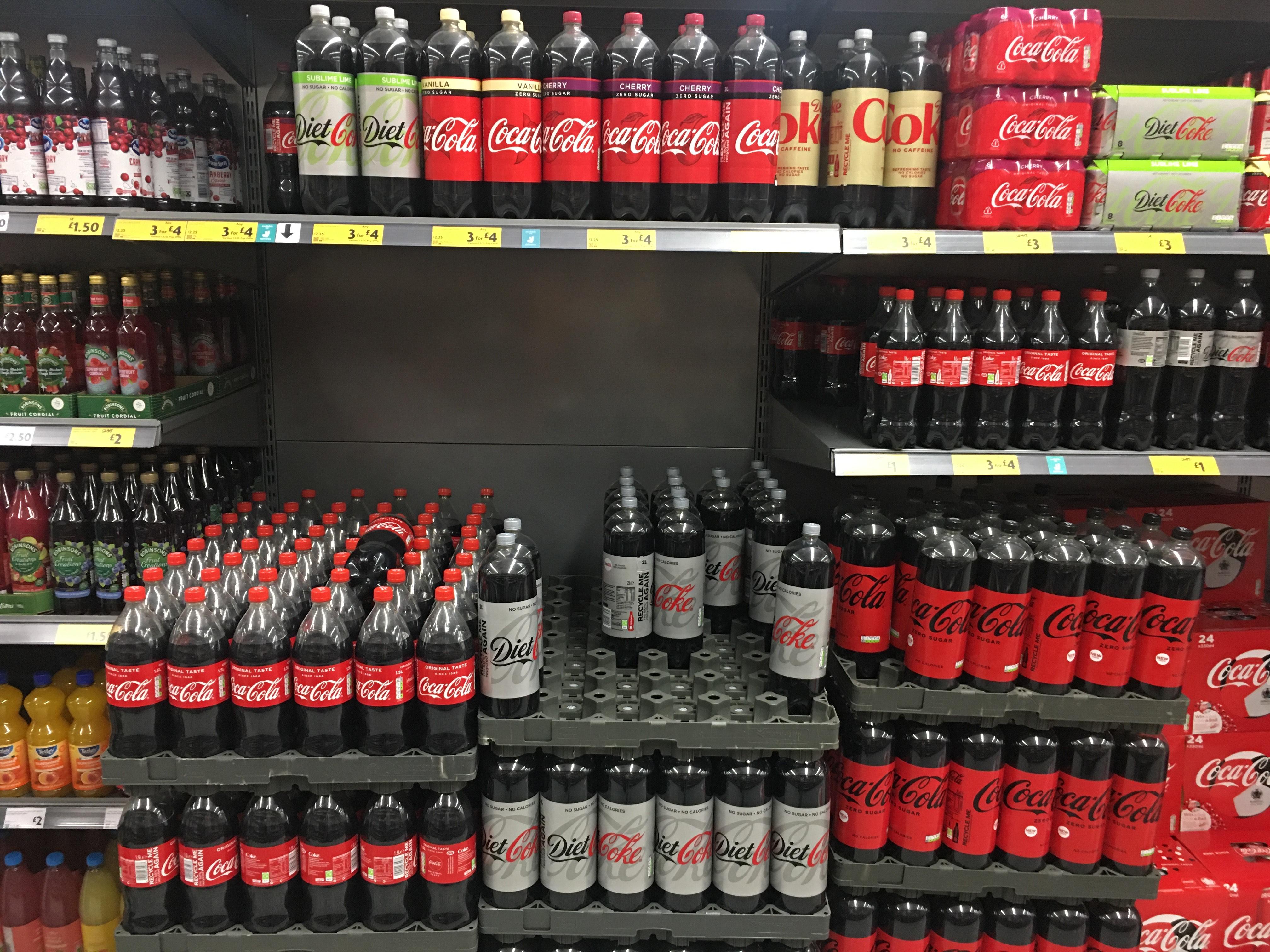 Coca Cola all varieties 1.5L / 2L 3 for £4 Morrison's Sutton